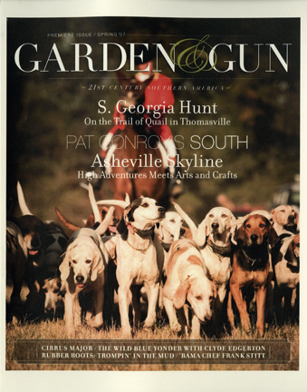 A new magazine The Garden Gun Mr Magazine