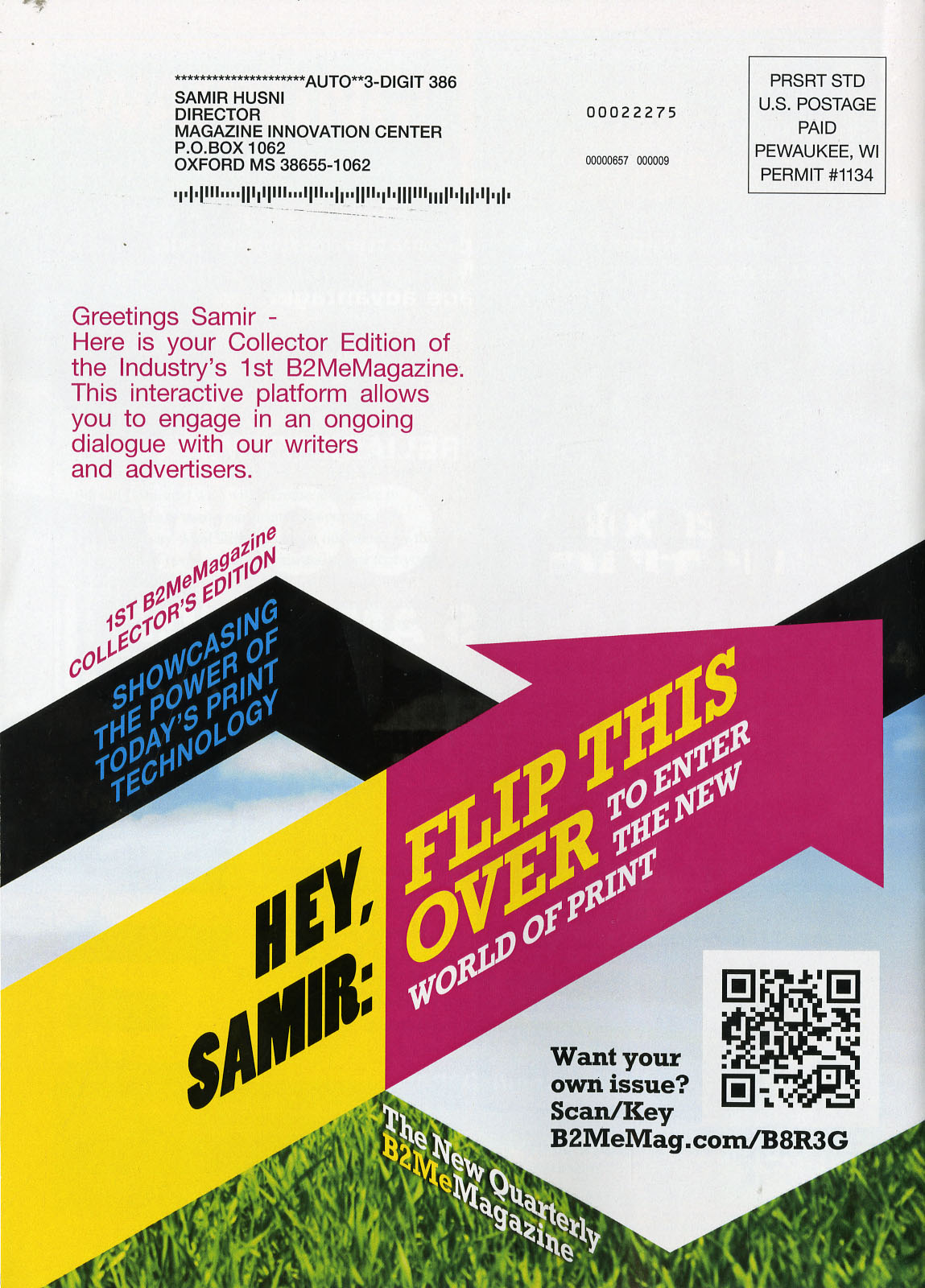 Innovation in print a b2me magazine the interactive one on one my first copy arrived and to say that i was impressed will be an understatement my name and the name of the magazine innovation center were there m4hsunfo