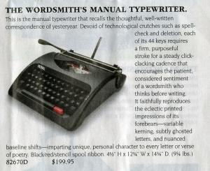 typewriter close-up use