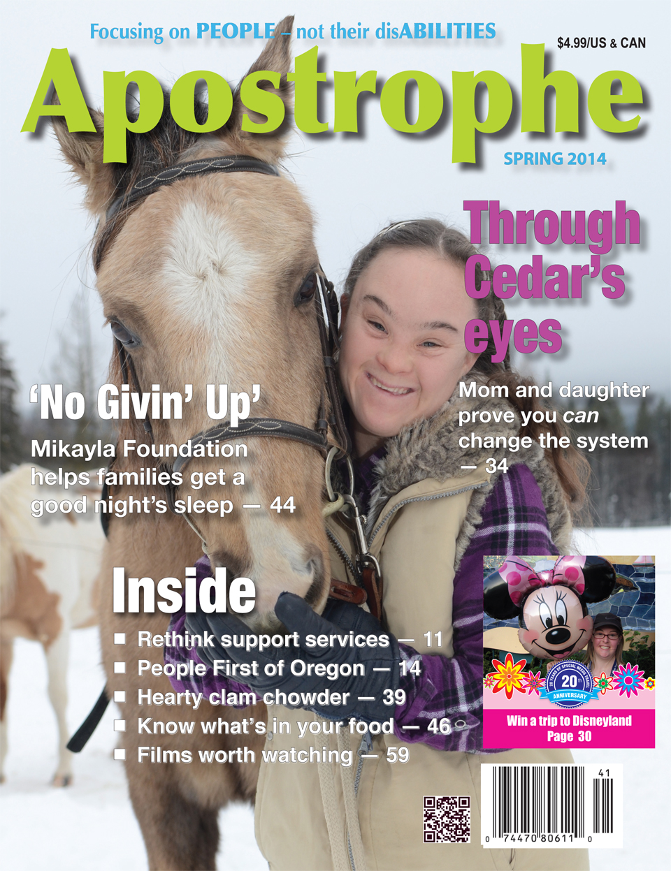 magazine articles or blog posts related to men and women with the help of disabilities