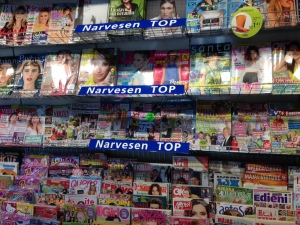 A newsstand in Riga