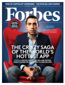 Forbes Cover 112414 Most Powerful People Sean Rad