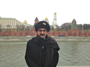 On the banks of Moscow River and Kremlin