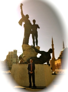 At Martyrs' Square in Downtown Beirut... Mr. Magazine™ Reporting...