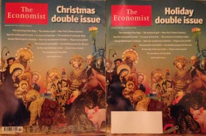 The European Christmas edition vs. The American Holiday edition