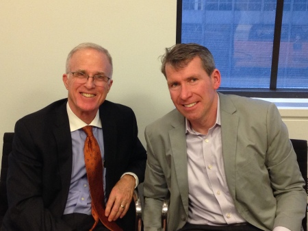 Jim Elliott (left) and Steve Davis at the Kantar Media offices in New York City