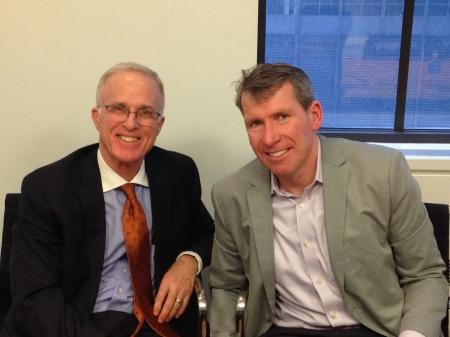 Jim Elliott (left) and Steve Davis at the Kantar Media offices in New York City