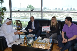 In the office of Mr. Faisal Salem Bin Haider with Hala Hatem, director, sales and marketing and Samer Sabri Abdel Qader, director, pre-press & digital