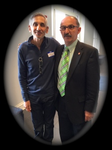 "Lewis DVorkin and Samir ""Mr. Magazine™"" Husni at the Meek School of Journalism, Ole Miss."