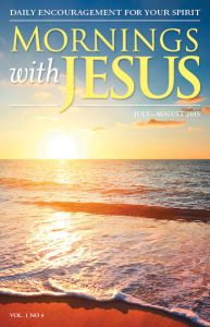 A prototype cover of the new magazine Mornings with JESUS.