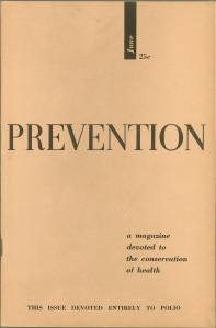 The very first issue of Prevention, June 1950.