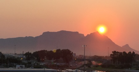 Sunset at Cape Town, South Africa...