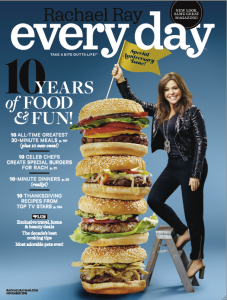 The 10th anniversary issue of Rachael Ray Every Day sporting a new name and logo.