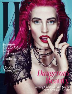 W Jessica Chastain Nov 2015 Cover