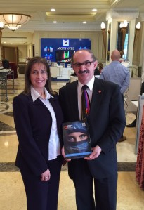 With Amal Daraghmeh Masri at the FIPP Middle East & Africa conference in Dubai, UAE.