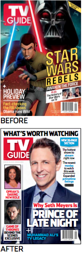 TV Guide old and new