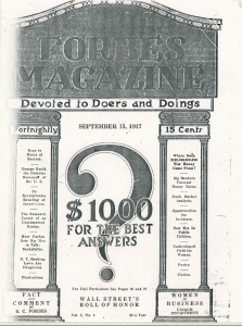 Forbes First Edition