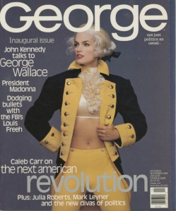The actual first issue of George... needless to say it was not designed by Roger Black.