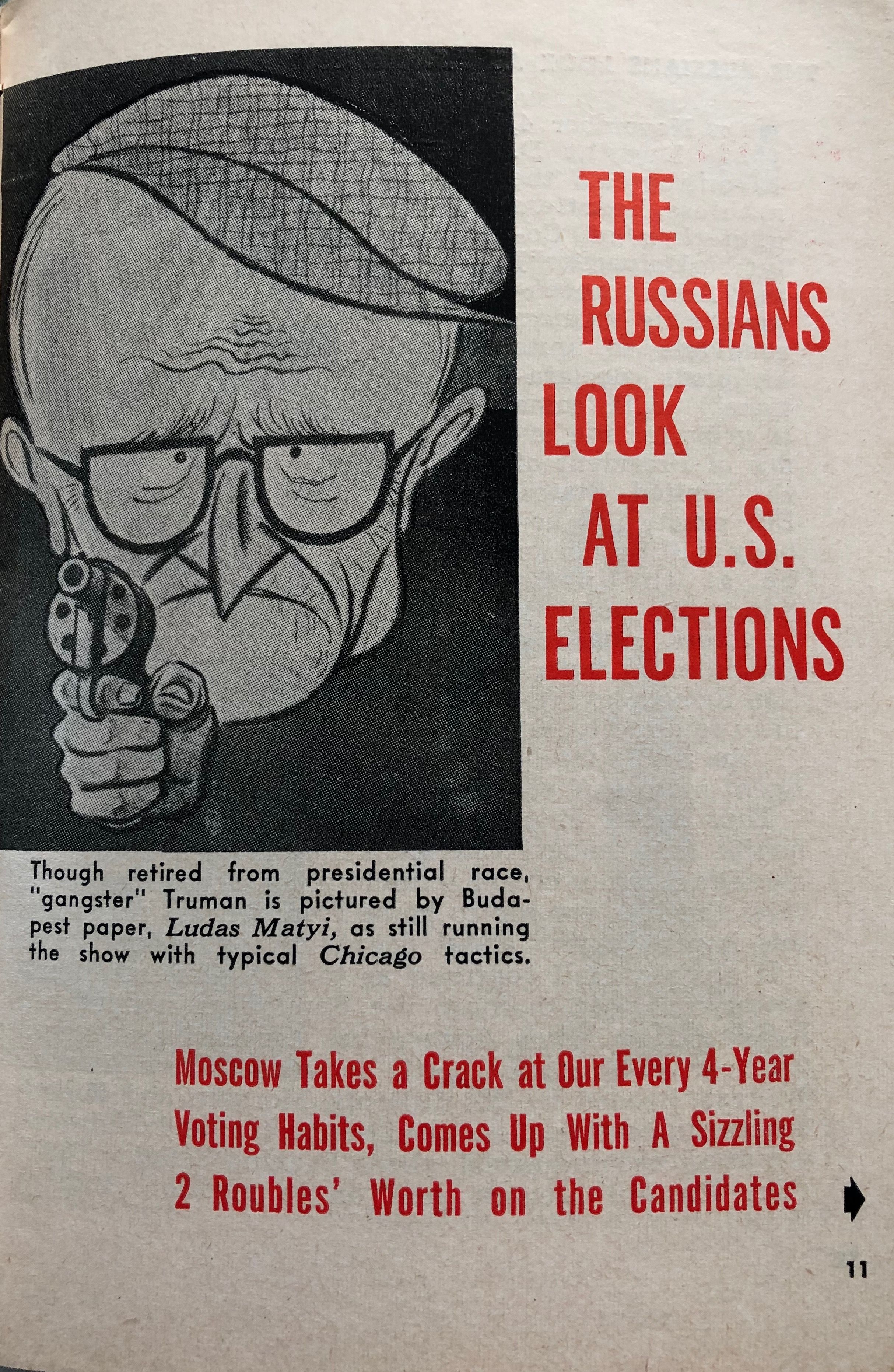 Russian Interference In Presidential Elections Circa 1952 A Mr Magazine Blast From The Past