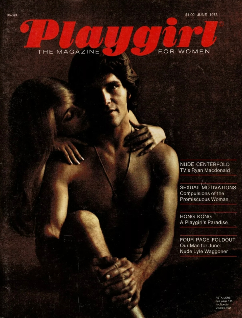 The first issue of Playgirl magazine as entertainment for women June 1973